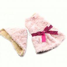 Pulover pentru câine cu glugă – roz cu o fundă– XXL
