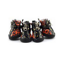 Pantofi pentru câine - leopard lucios - portocaliu, L