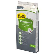 EMINENT Lamb and Rice - 15kg + 3kg GRATIS