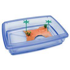 Bazin pentru broaște țestoase - albastru - 43,5 x 34 x 11 cm