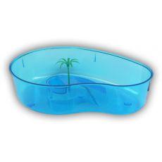 Terrarium pentru broaște țestoase cu palmier – albastru