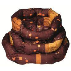 Culcuș de câine - oval, maro, 55 x 45 x 20 cm