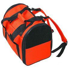 Geantă portabilă pentru câini sau pisici, portocaliu și negru,  36 cm