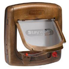 Uși pentru câini și pisici 420 EF, magnetice - imitație de lemn