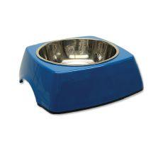 Castron pentru câine DOG FANTASY, pătrat- 0,70L, albastru