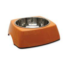 Castron câine DOG FANTASY, pătrat - 0,70L, portocaliu