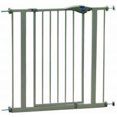 Poartă din metal pentru câine, gri - 75-84x75 cm