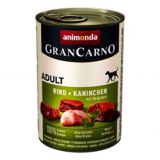 tin GranCarno Fleisch Adult Rabbit + Herbs - 400 g