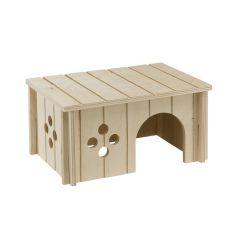 Casă pentru rozătoare de mărime medie, din lemn - 26x17,3x13cm