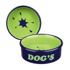 """Castron de ceramică pentru câini inscripţionat """"Dogs"""" - 0,5l"""