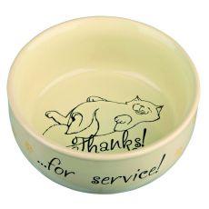Castron înalt din ceramică pentru pisici, cu imagine - 0,3l