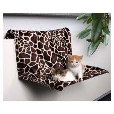 Pat din material de pluș pentru pisici, atașabil de calorifer  - 48x26x30cm