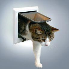 clapă pentru pisici și tunel - albă, 21 x 21 cm