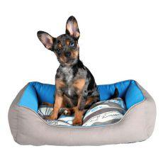 Pat pentru câini și pisici SAILOR, culoare gri-albastră - 65 x 50 cm