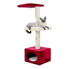 Ansamblu sisal pentru pisici ELENA cu adăpost - 37 x 37 x 109 cm