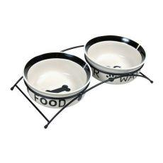 Două castroane de ceramică cu suport - 2 x 2,6 l