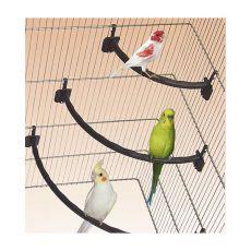 Stinghie pentru păsări din plastic ALB  - 1,2 x 27 cm