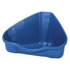 Toaletă de colţ NORA 2 albastru - 30 x 24 x 19 cm