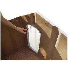 Porta 4 uşi din plastic pentru casă câini- 50 x 27,5 cm
