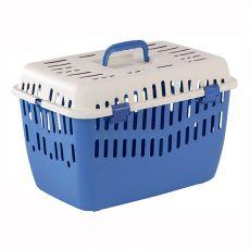 Cușcă de transport animale de companie BINNY 1 - albastră, 44 x 29 x 29 cm