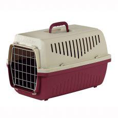 Cușcă pentru transport pisici și câini de până la 18 kg - SKIPPER 3 F, bordo, 62 x 41 x 38 cm
