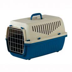 Cușcă pentru transport pisici și câini de până la 18 kg - SKIPPER 3 F - albastră, 62 x 41 x 38 cm