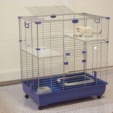 Cușcă pentru pisici ELSA 82 C2, albastru - 82x51x94cm