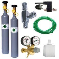 CO2 set profesional cu o valvă emg. + butelie de rezervă 500g