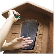 Porta 2 ușă din plastic pentru cușca câinelui - 32,5 x 18,5 cm
