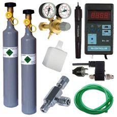 Set profesional de CO2 + butelie rezervă 500g + pH Controller