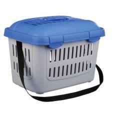 Cușcă de transport pentru animale de companie MIDI-CAPRI - albastră, 44 x 33 x 32 cm