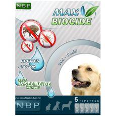 MAX BIOCIDE picături antiparazitare pentru câini, 5 ks