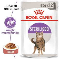 Royal Canin STERILISED 12 x 85 g - în pungă de aluminiu