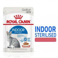 Royal Canin Indoor Sterilised In Gravy Pliculeț 12 x 85 g